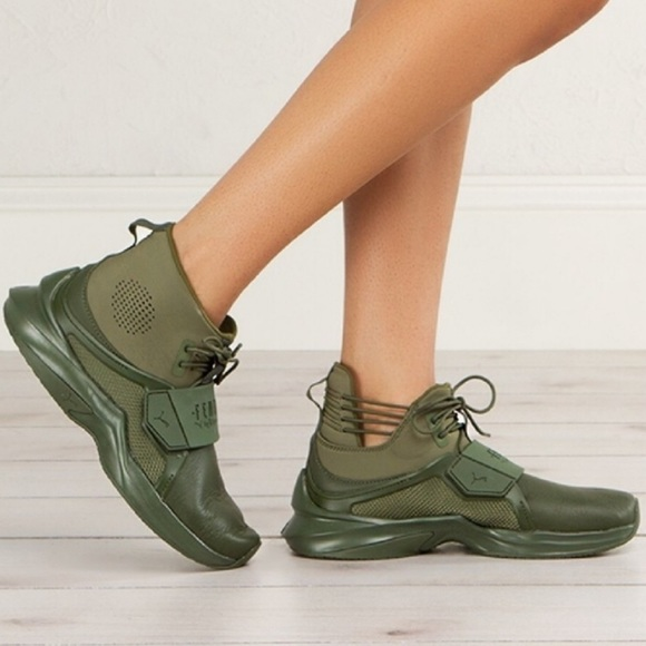 size 40 0c273 2603d Fenty Puma Army Green Sneakers (The Trainer Hi)